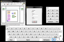 Control Sensitive Touch Screen Keyboard